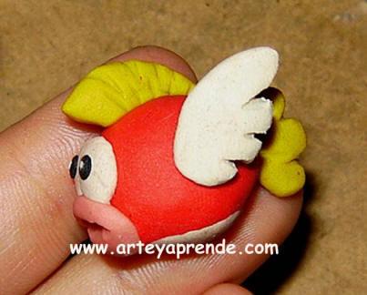 Como hacer Pez volador Mario Bros Con plastilina Paso a Paso